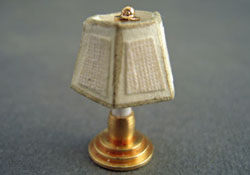 "Miniscules 1/2"" Scale Miniature Non-Working White Candlestick Base Table Lamp"