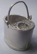 1&quot; Scale Pewter Mop Bucket