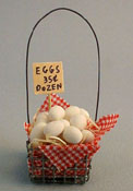 "Lorraine Heller Hand Crafted 1"" Scale Miniature Egg Crate"