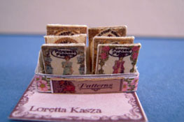 "Loretta Kasza 1/2"" Scale Hand Crafted Filled Pattern Display"
