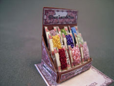 "Loretta Kasza 1/2"" Scale Hand Crafted Filled Ribbon Display"