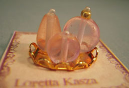 """Loretta Kasza 1/2"""" Scale Hand Crafted Pink Vanity Tray"""