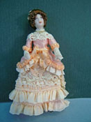 "Loretta Kasza 1/2"" Scale Candy In Peach Porcelain Doll"