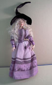 "Loretta Kasza Hand Crafted 1"" Scale Porcelain Doll Hannah The Witch"