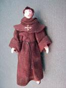 "Loretta Kasza 1/2"" Scale Friar Thomas Porcelain Doll"