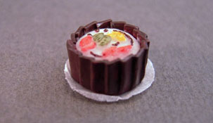 "1/2"" Scale Miniature Decorated Cake"