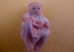"Dolls By Patsy 1/2"" Scale Porcelain Baby Jenny Doll"