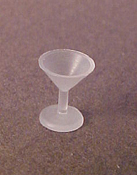 "Linden Swiss 1/2"" Scale Miniature Martini Glass Set"