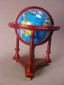 "Townsquare 1"" Scale Mahogany Globe"
