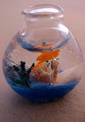 "1"" Scale Hand Crafted Fish Bowl"