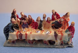 "1"" Scale Miniature Resin Last Supper Sculpture"