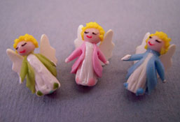 "1"" Scale Bright deLights Set Of Three Tiny Angels"