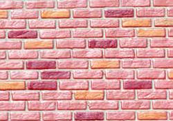 "1"" Scale Farmhouse Red Rough Brick Sheet"