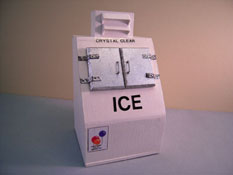 "1"" Scale Hand Crafted Ice Machine"