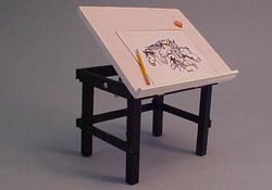 "1/2"" Scale Miniature Hand Crafted Drawing Table"