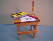 "1/2"" Scale Hand Crafted Miniature Sketch Table"