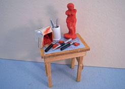 "1/2"" Scale Hand Crafted Sculptor's Table"