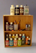 "1"" Scale Filled Painter's Shelf"
