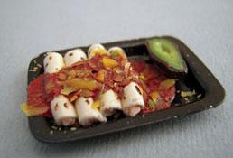 "1"" Scale Hand Crafted Chicken Enchilada Platter"