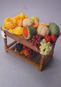 "Fantastic 1/2"" Scale Filled Fruit Table"