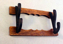 1&quot; Scale Miniature Hand Crafted Wall Mount Gun Rack