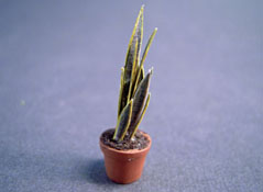 "Falcon 1/2"" Scale Potted Mother-In-Laws Tongue Plant"