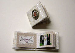 "1"" Scale Hand Crafted Wedding Album/Scrapbook"