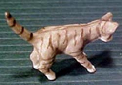 "1/2"" Scale Miniature Gray Tabby Cat"