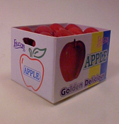 "1"" Scale Case Of Red Apples"