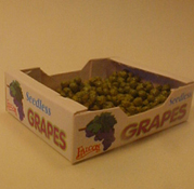 "1"" Scale Case Of Green Grapes"