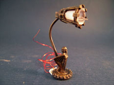 "1"" Scale Fabulous Ni Glo Art Deco Table Lamp"