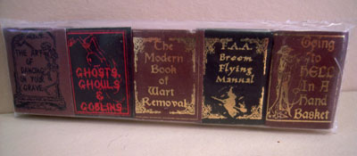 "1"" Scale Non-Printed Five Piece Witch Humor Book Set"