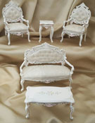 Majestic Mansions Five Piece Hand Painted Francois Living Room Set 1:12
