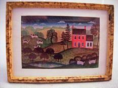 """McBay Miniatures 1"""" Scale Landscape Framed Print"""
