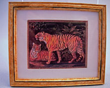 "McBay Miniatures 1"" Scale Tiger Framed Print"
