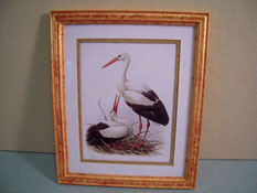 "McBay Miniatures 1"" Scale Beautiful Wood Stork Framed Print"
