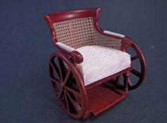 "1"" Scale Walnut Platinum Collection Victorian Wheel Chair"