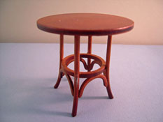 "1"" Scale Walnut Platinum Collection 1859 Thonet Bentwood Table"