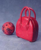 "1"" Scale Bowling Bag and Ball"