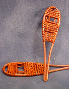 "1/2"" Scale Miniature Hand Crafted Leather Snow Shoes"