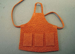 "Prestige Leather 1/2"" Scale Miniature Leather Work Apron"