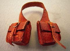 "Prestige Leather 1/2"" Scale Miniature Leather Saddle Bags"