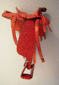 "Prestige Leather 1/2"" Scale Miniature Hand Crafted Leather Western Saddle"