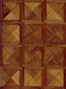 "Brodnax 1/2"" Scale Paris Walnut Parquet Flooring Kit"