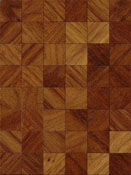 "Brodnax 1/2"" Scale Evian Walnut Parquet Flooring Kit"