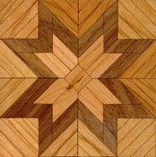 "Brodnax 1/2"" Scale Etoile Cherry Parquet Center Medallion Flooring Kit"