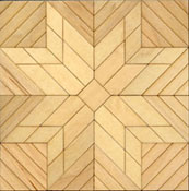 "Brodnax 1/2"" Scale Etoile Maple Parquet Center Medallion Flooring Kit"