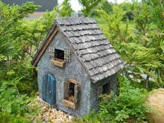 "Fairy Garden ""Primitive Cottage"" Resin Fairy Garden House"