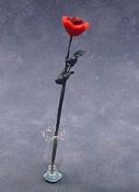 "Bright deLights 1"" Scale Long Stem Red Rose"