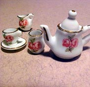 1&quot; Scale Reutter Double Rose Tea Set